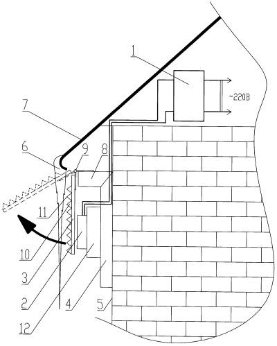 Устройство для удаления сосулек с крыш зданий