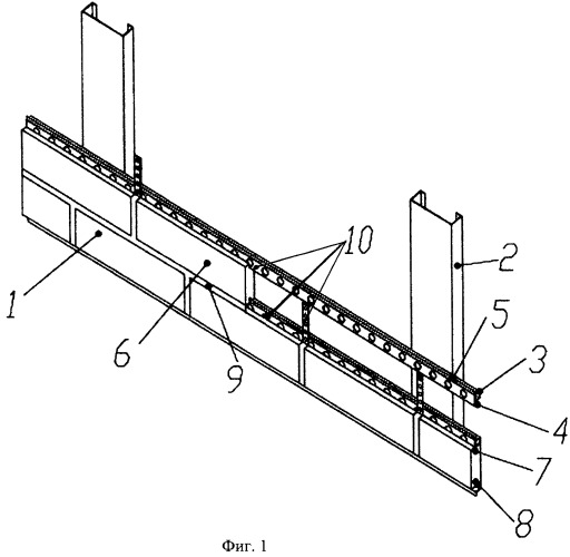 Фасадная система с воздушным зазором для крепления мелкоразмерных плит облицовки и способ ее монтажа