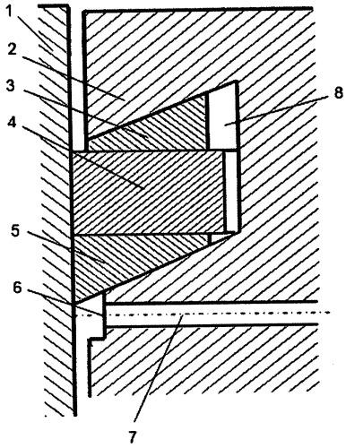 Поршневое уплотнение двигателя внутреннего сгорания