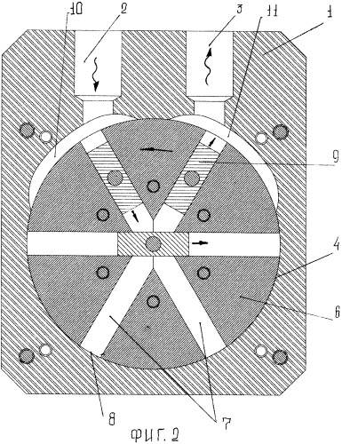 Диаметральная объемная машина (варианты)
