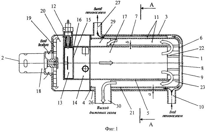 Подогреватель системы отопления (варианты)