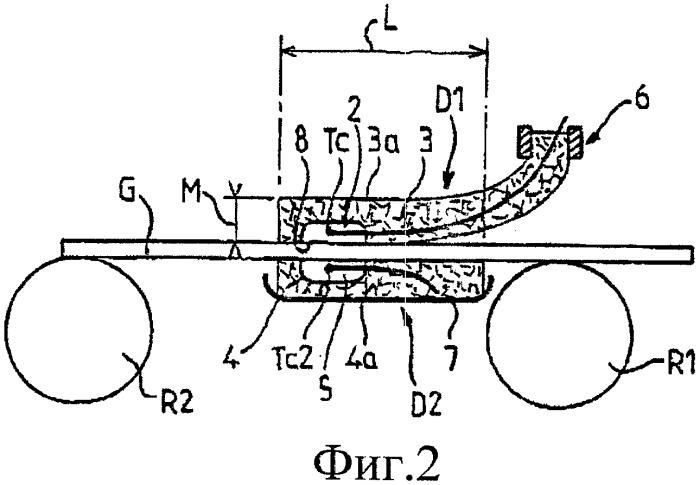 Установка для измерения температуры ленты в печи для отжига плоского стекла и способ работы печи для отжига
