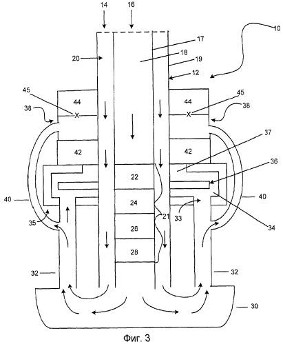 Системы твердооксидных топливных элементов с улучшенными канализированием газов и теплообменом