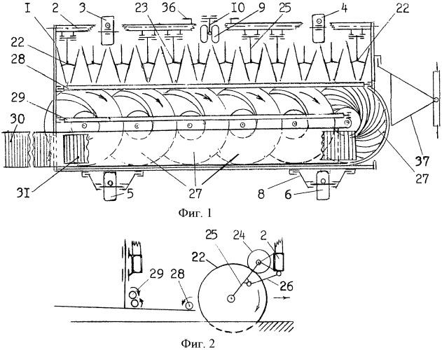 Многорядная корнеплодоуборочная машина (варианты)