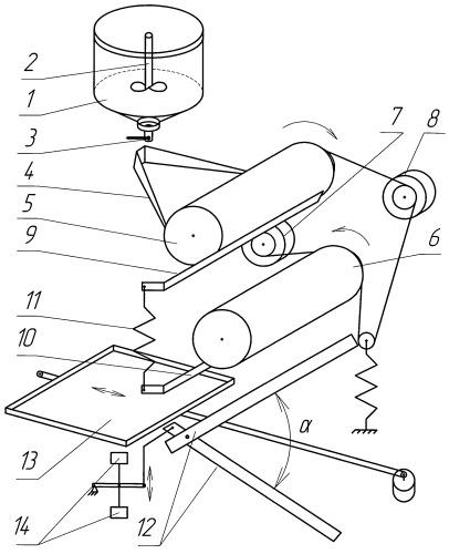 Устройство для изготовления изделий из жидкого теста