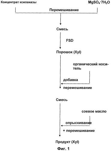 Твердые композиции ферментов и способ их получения