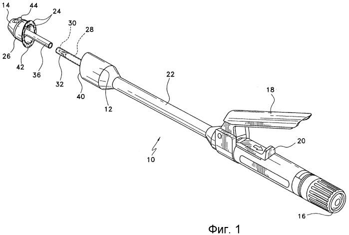 Эллиптический внутрипросветный сшивающий скобками аппарат для анастомоза