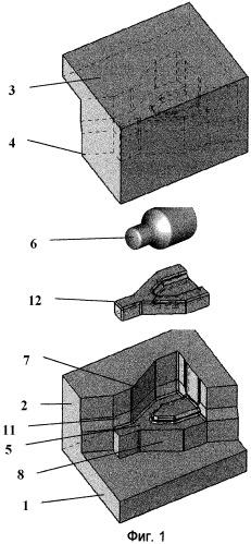 Штамп для закрытой объемной штамповки