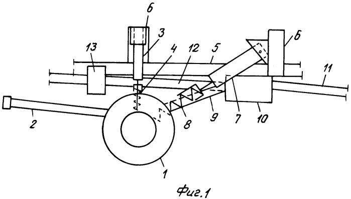 Вспомогательное устройство для повышения проходимости полноприводного колесного трактора