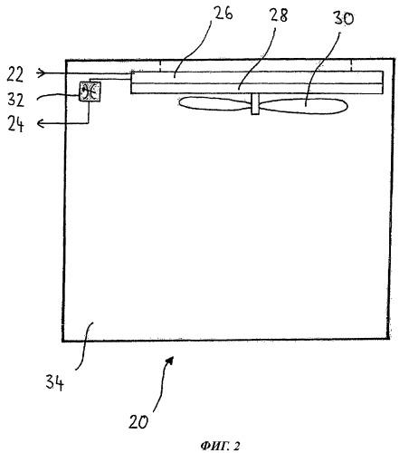 Охлаждающее устройство для монтажа в воздушном судне