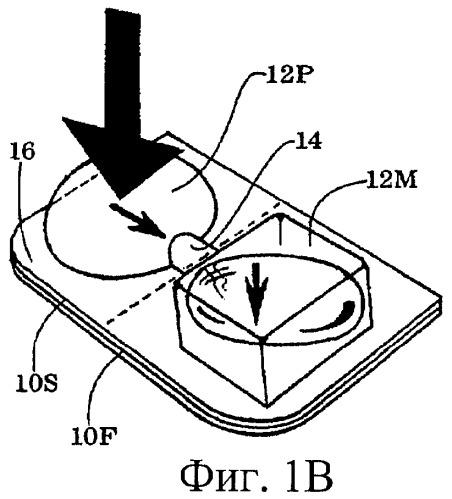 Запечатанное устройство для выдачи изделия с разрывающей помпой