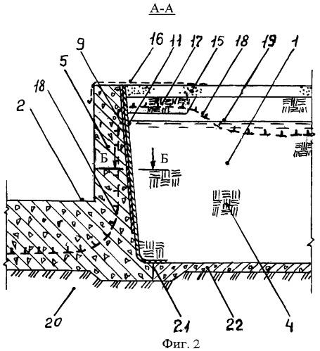 Узел сопряжения грунтовой плотины с бетонной водосливной плотиной
