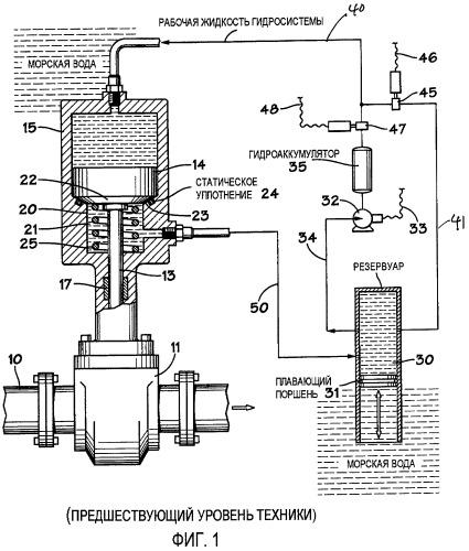 Подводное устройство для приведения в действие подводного оборудования