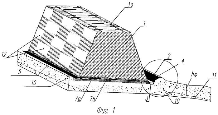 Выщелачивающий узел установки кучного выщелачивания в зоне многолетней мерзлоты (варианты)