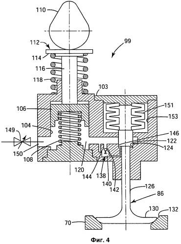 Гидромеханическая система привода клапанов двигателя и способ ее применения