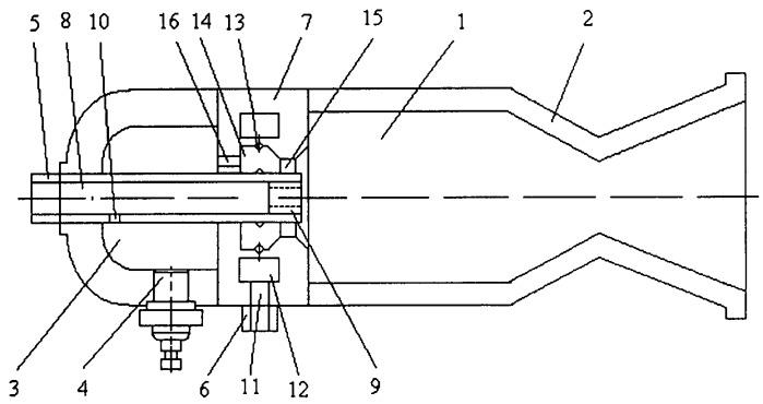 Камера ракетного двигателя малой тяги, работающего на двухкомпонентном несамовоспламеняющемся газообразном топливе