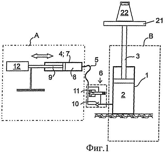 Система установки рабочего цилиндра в заданное положение, применение системы и машина