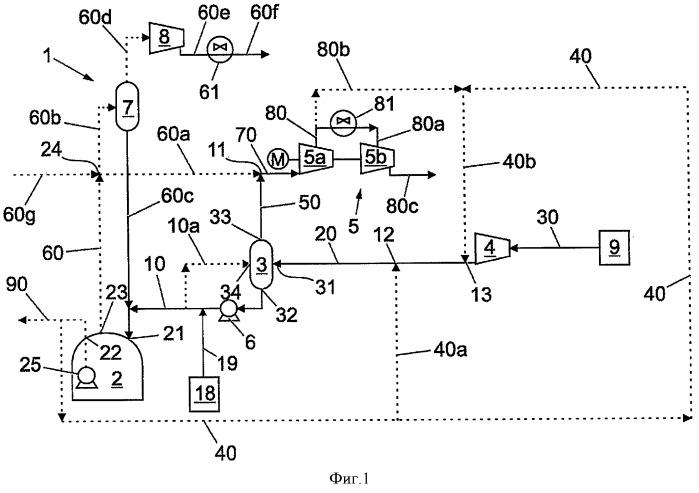 Способ и устройство для получения потока газообразного углеводорода из потока сжиженного углеводорода