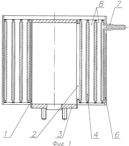 Воздушный охладитель кислородно-водородной смеси