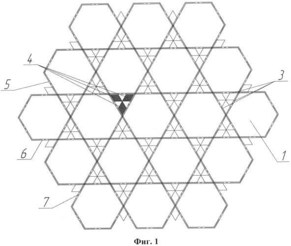 Структура пластинчатой решетки для тепловыделяющей сборки