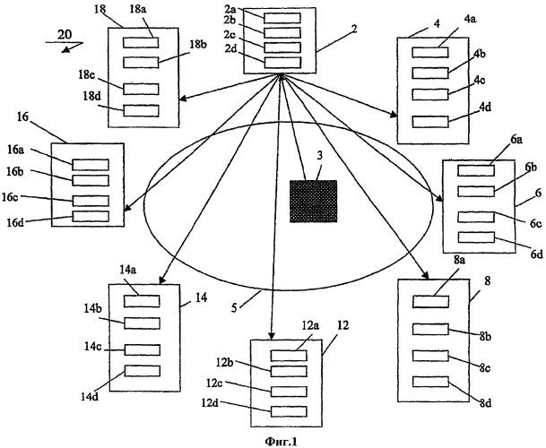 Способ, компьютерная программа и компьютерная сеть для совместного использования данных в реальном времени