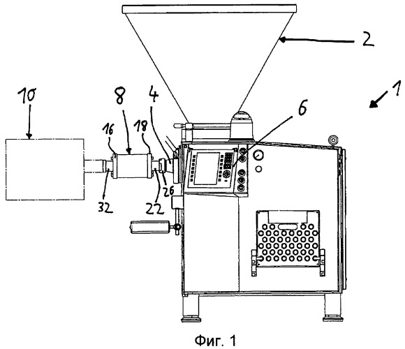 Устройство для смешивания масс пищевого продукта, такого как колбасный фарш, и шприц-машина