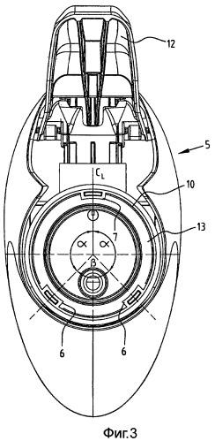 Распределительное устройство, состоящее из контейнера с горловиной и распределительной головки, соединенной с контейнером с помощью быстродействующего соединения