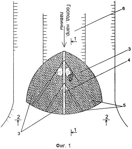 Способ возведения противолавинного сооружения комбинированной конструкции