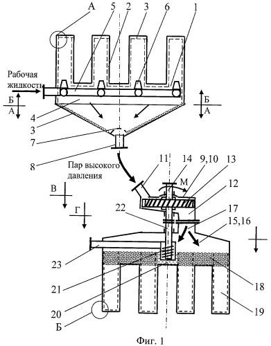 Паротурбинная мультитеплотрубная установка