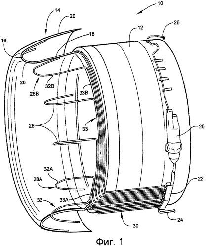 Теплопередающая система для газотурбинного двигателя