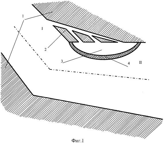 Антикавитационное устройство в криволинейном гидравлическом тракте