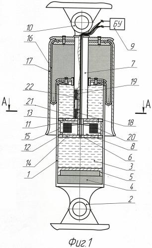 Регулируемый магнитореологический пневматический амортизатор