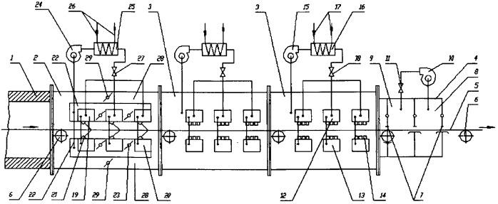 Способ герметизации камеры струйного охлаждения полосы в протяжной печи