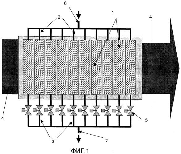 Секционное проточное устройство