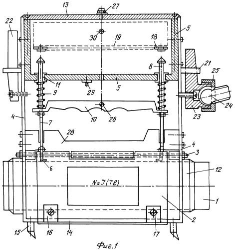 Цилиндрический щелевой экран для гамма-опробования радиоактивных руд