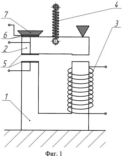 Реле электромагнитное с переключающимися контактами