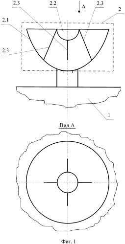 Развертываемая крупногабаритная двухзеркальная антенна космического аппарата