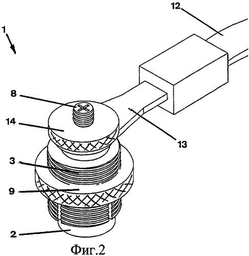Кабельное соединительное устройство для батареи