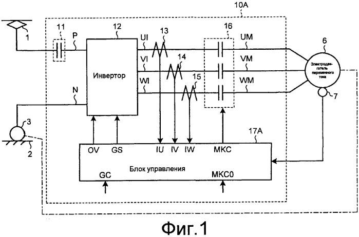 Приводной контроллер для электродвигателя переменного тока
