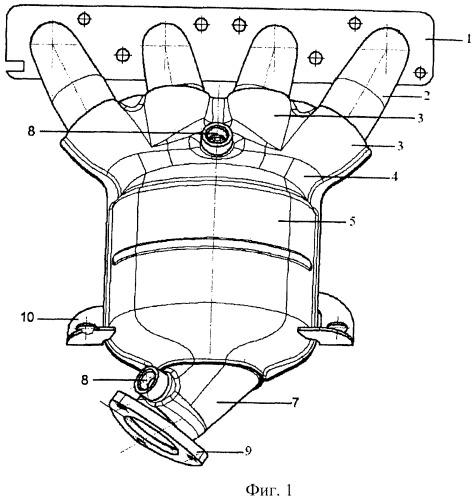 Труба приемная глушителя с нейтрализатором