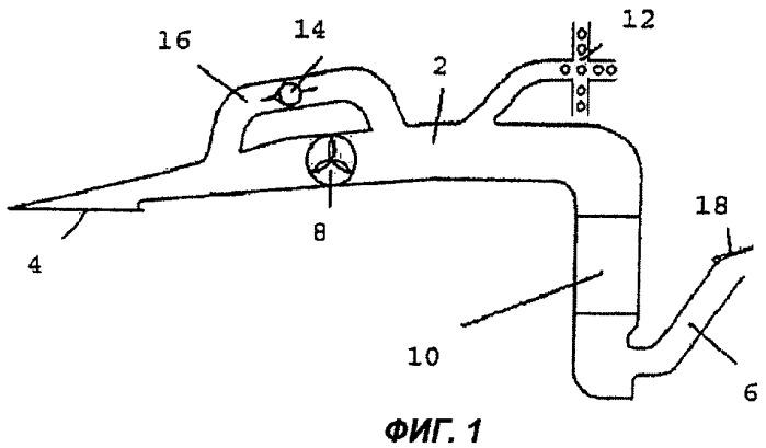 Система охлаждения и вентиляции набегающим потоком воздуха для воздушного судна