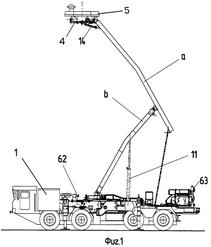 Гидравлический привод, преимущественно мобильной антенной установки с подъемной мачтой