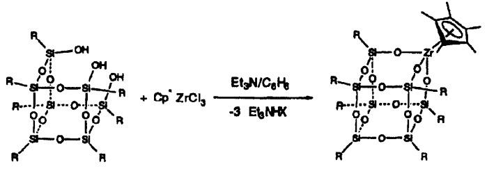 Соединения на основе металлов и poss для получения поликонденсированных полимеров
