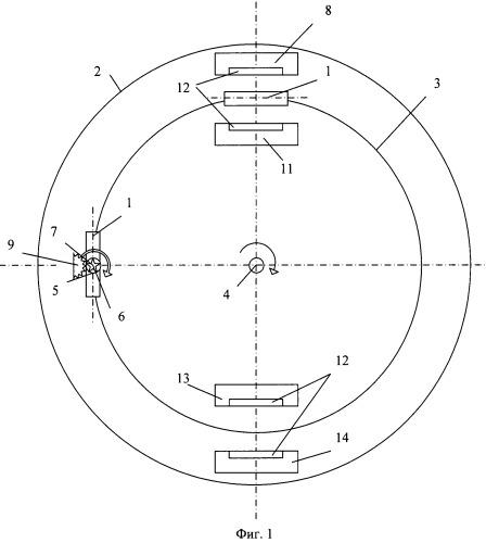 Способ нанесения нанокомпозитного покрытия на плоские поверхности детали и устройство для его реализации (варианты)