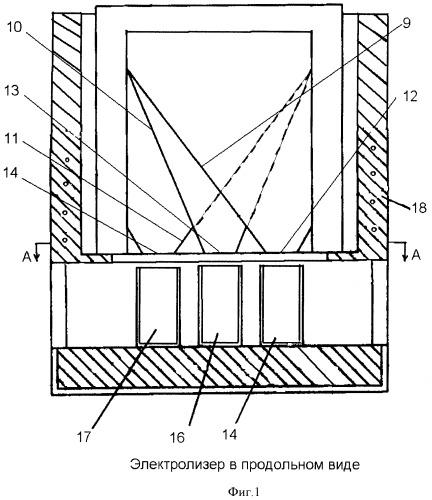 Электролизер для разделения легкоплавких сплавов на селективные концентраты