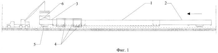 Способ продольной надвижки пролетного строения телескопической системы