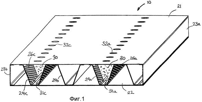 Конструкция плиты и способ ее изготовления