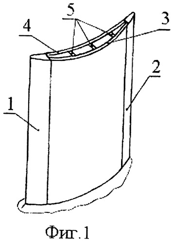 Пустотелая лопатка газотурбинного двигателя