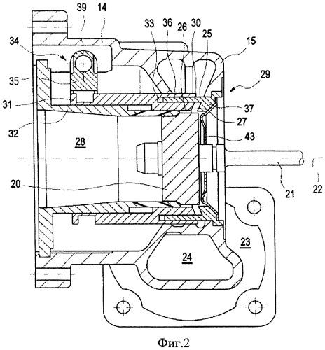 Турбокомпрессор, работающий на отработавших газах, для двигателя внутреннего сгорания