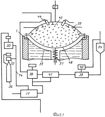 Устройство четырехтактного бесшатунного двигателя внутреннего сгорания, работающего на пылевидном топливе